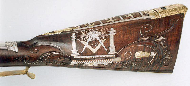 Masonic Inlaid Rifle 1