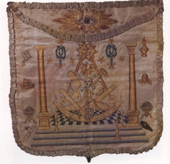 Symbolism in the masonic apron hand embroidered by madame lafayette in 1784