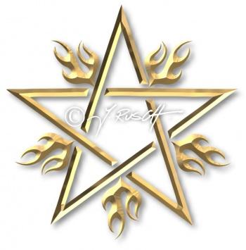 Flammender Stern