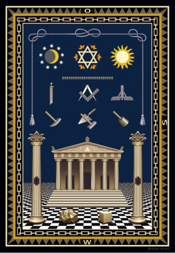 Teppich gezeichnet  Teppich – Freimaurer-Wiki